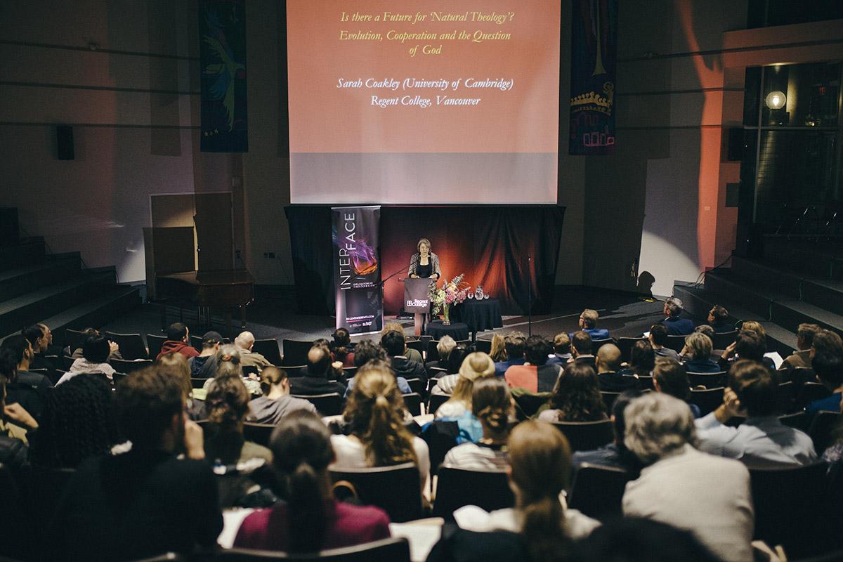 Sarah Coakley lecturing
